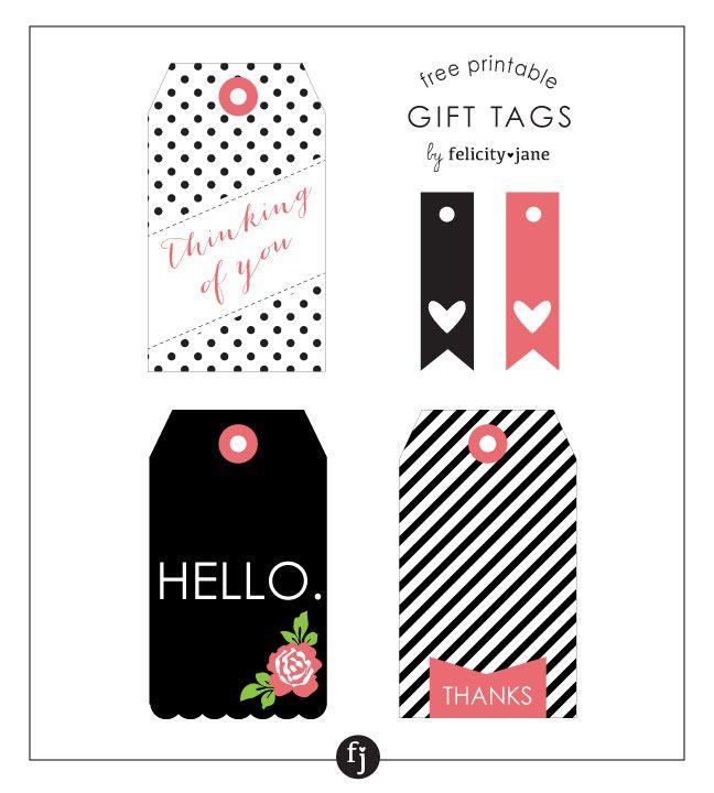 Free Printable Gift Tags | felicityjane.com
