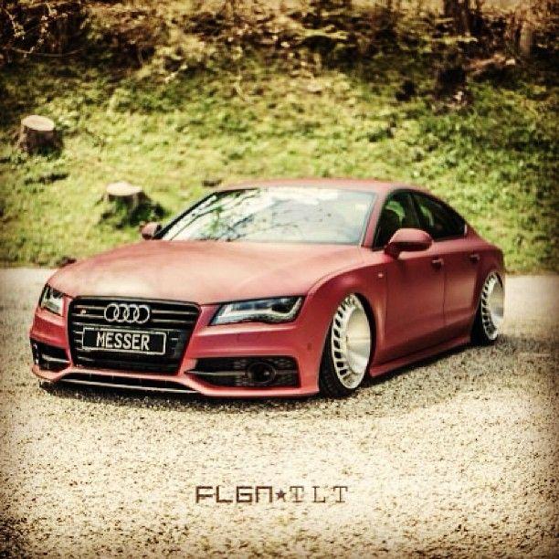 Sleek sexy and low Audi A7 nice wheels!