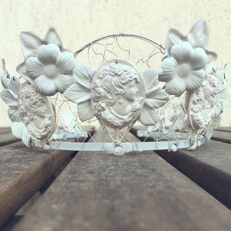 Headpiece: Carra Accessories  You may find more info on Facebook Polymeric cameos on a wired tiara ^_^