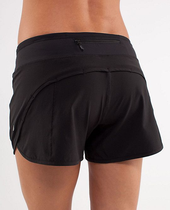 Lululemon Turbo Run Shorts.  Best running shorts EVER!!  A little longer inseam and they don't ride up.