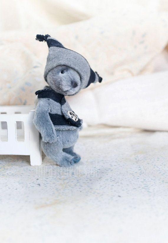 Artist bear Basil Valentine Gift handmade bear by LunaticShop