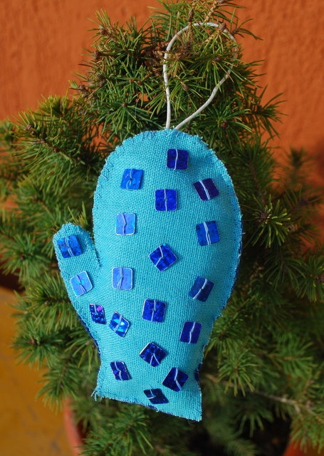 Christmas Tree Ornament  Glove by IrMarina on Etsy, $8.00