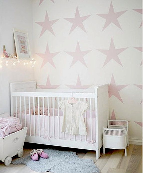 Wall Stencil Star Baby Room Pattern Decor Made By OMG Stencils Home Improvements Color