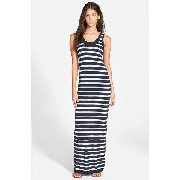Splendid white striped maxi dress