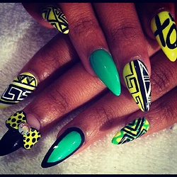 82 best nails images on pinterest nail designs enamel and enamels brights n black dope nail swag prinsesfo Image collections