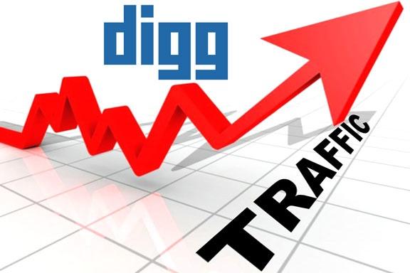 Increase of Digg Traffic, Socialmediaraw