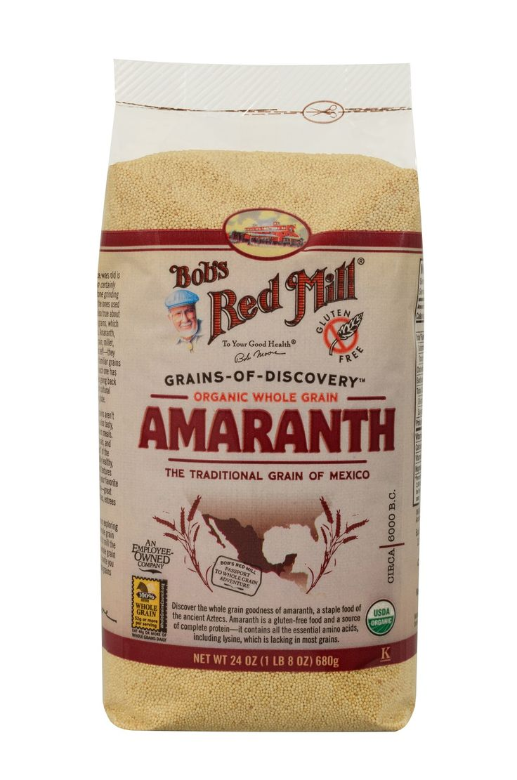 Discover the whole grain goodness of amaranth, a staple food of the ancient Aztecs. Amaranth is a gluten-free food and a source of complete protein. It contains all the essential amino acids, including lysine, which is lacking in most grains. Makes a unique hot cereal or polenta. Add to baked goods or homemade granola for a pleasant texture and extra nutrition.