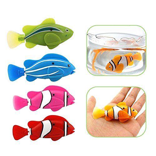 1Pcs-Robofish-elektronisches-Spielzeug-Aktivbatteriebetriebene-Robo-Fisch-scherzt-Roboter-Haustier-magische-Novel-Turbot-Schwimmen-Anemonenfisch-Rosa-Farbe