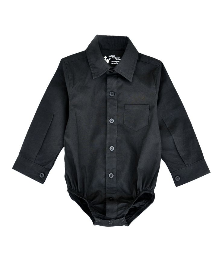 Look at this Black Button-Up Bodysuit - Infant & Toddler on #zulily today!