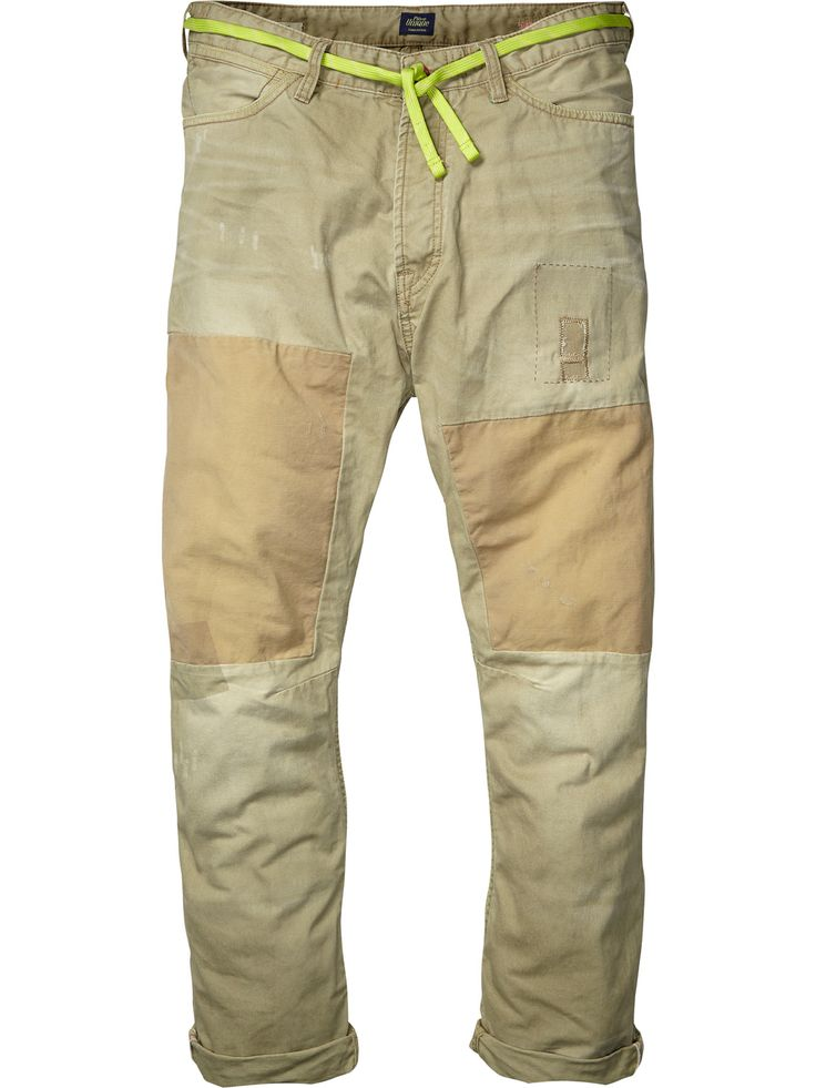 Relaxed slim fit loose tapered 5-pocket with cropped length | Pants | Men Clothing at Scotch & Soda