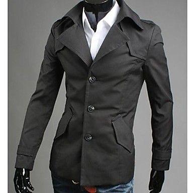 mannen koreab stijl slanke revers enkele breasted jas 2105902 2016 – €45.07