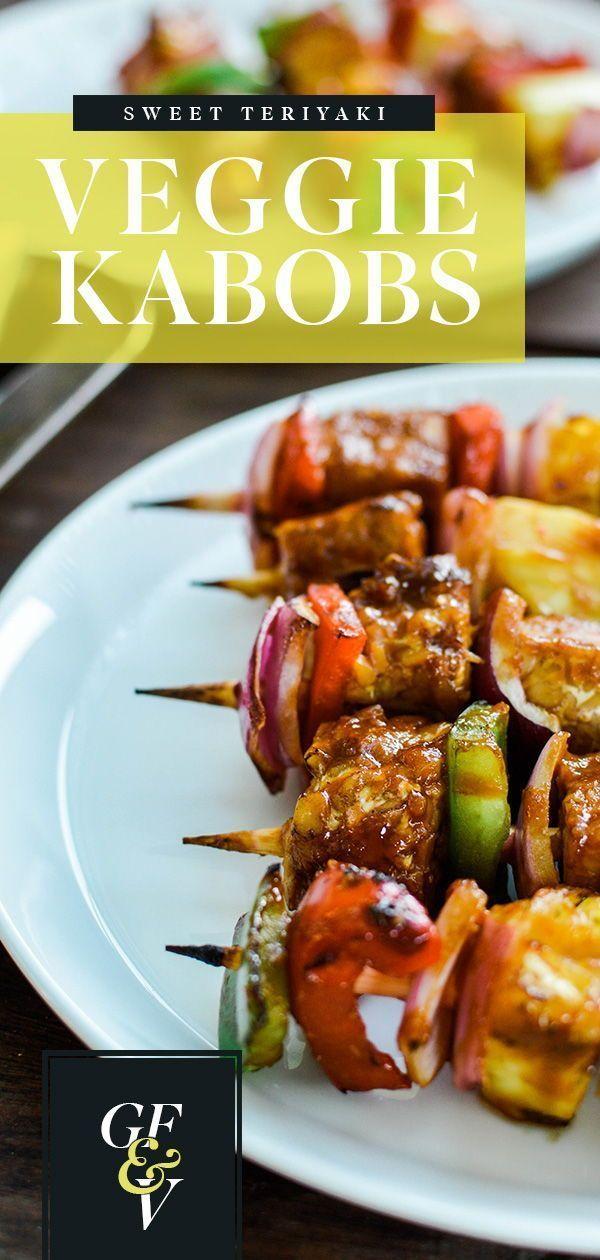 Sweet Teriyaki Veggie Kabobs Plant Based Scotty Veggie Kabobs Summer Grilling Recipes Vegetarian Grilling