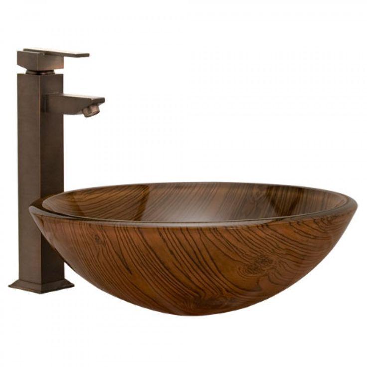Timber Glass Vessel Sink