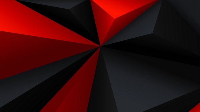 Red Digital Art Black Low Poly Gray Geometry Triangle Minimalism Abstract Wal Red And Black Wallpaper Red And Black Background Black Wallpaper