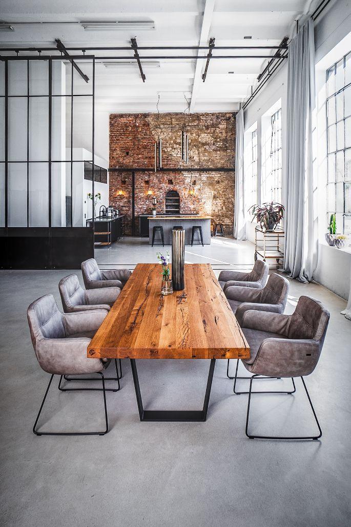 Tisch Auf Mass Massiv Holz Metall Massivholztisch Holztisch Esstisch Eichentisch