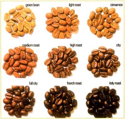 Types of Roasted Coffee