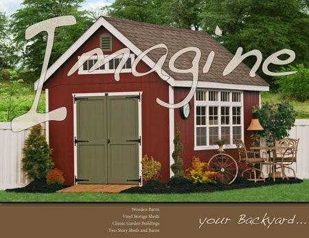 All NEW Portable Storage Sheds Idea Catalog from Sheds Unlimited! Request your FREE copy today!