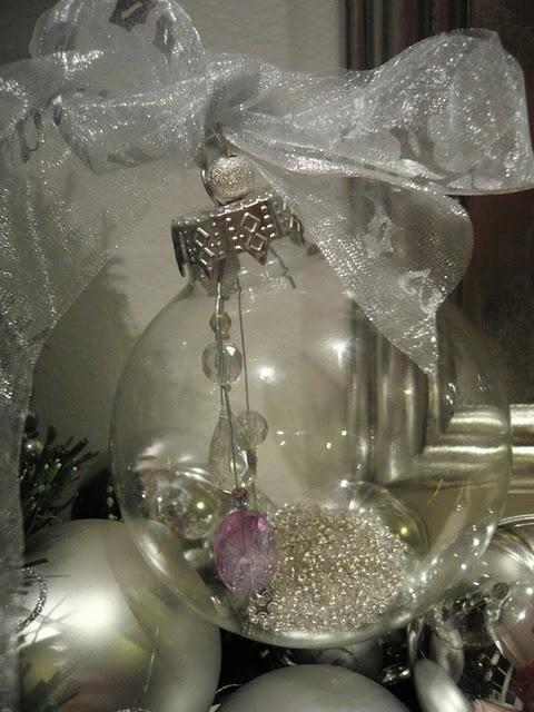 Make a gorgeous keepsake bauble - see here for instructions  http://leecarolineart.blogspot.com/2011/12/how-to-make-keepsake-christmas-tree.html