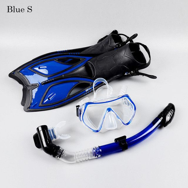 Scuba Diving Equipment Sets Uderwater Diving Mask Full Dry Snorkeling Gel Myopia Diving glasses Diving Mask+Snorkel+Fins