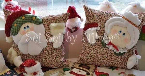 Almofadas Papai e Mamãe Noel | navidad 2 | Pinterest | Noel