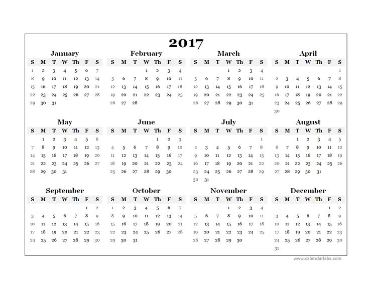 free yearly calendar 2017 | Pin 2017 Blank Yearly Calendar Template Free Printable Templates on ...