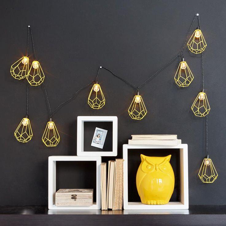 Guirlande lumineuse avec prismes géométriques/Lumières décoratives + guirlandes/Luminaires/Enfants/Enfants & bébés Bouclair.com