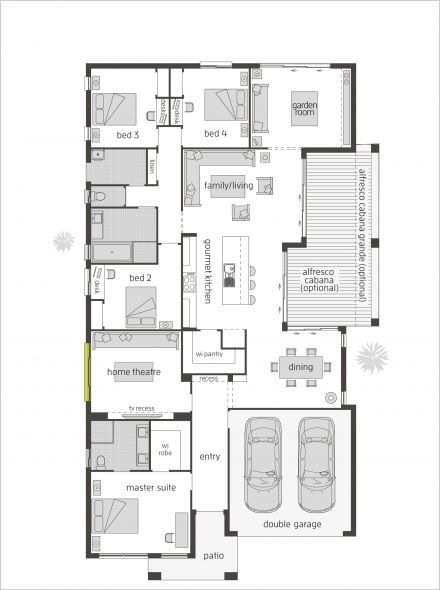 The garden retreat one by mcdonald jones homes i like the for Master retreat floor plans