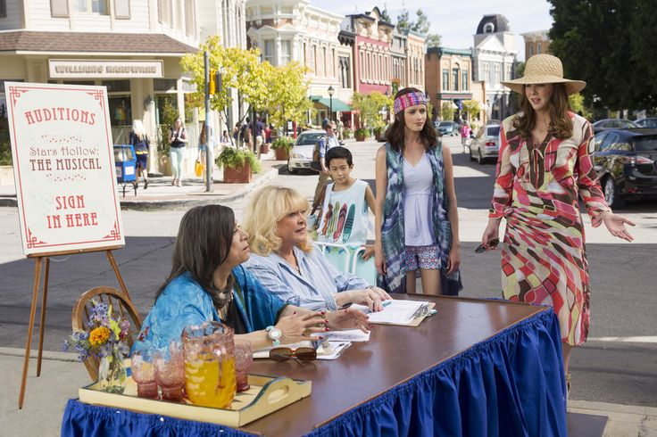 """Meanwhile, Babette and Miss Patty are up to their old tricks, and holding auditions for Stars Hollow: The Musical. 
