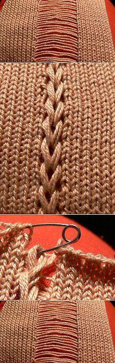 trenza de tricotado ...