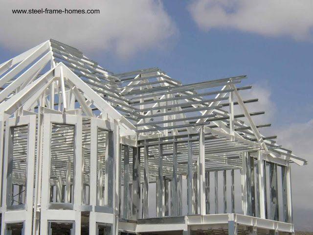 casa en construccin con estructura de steel framing