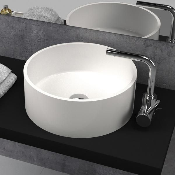 Best 25 solid surface ideas on pinterest rustic modern for Lavabo redondo sobre encimera
