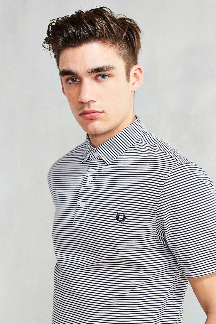 Fred Perry Striped Jersey Polo Shirt - Urban Outfitters