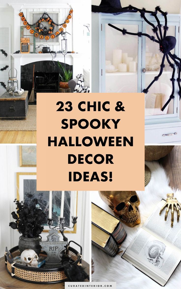 23 Chic Yet Spooky Halloween Decor Ideas For The Home Spooky Halloween Decorations Spooky Decor Halloween Decorations