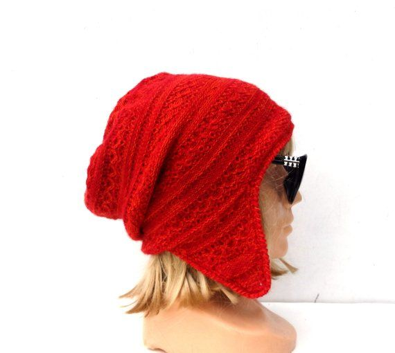 6a0cacc54ba knitted red wool hat