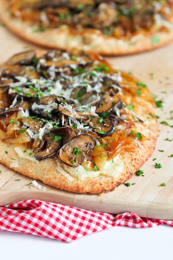 Marsala Mushroom & Caramelized Onion Naan Pizza Recipe