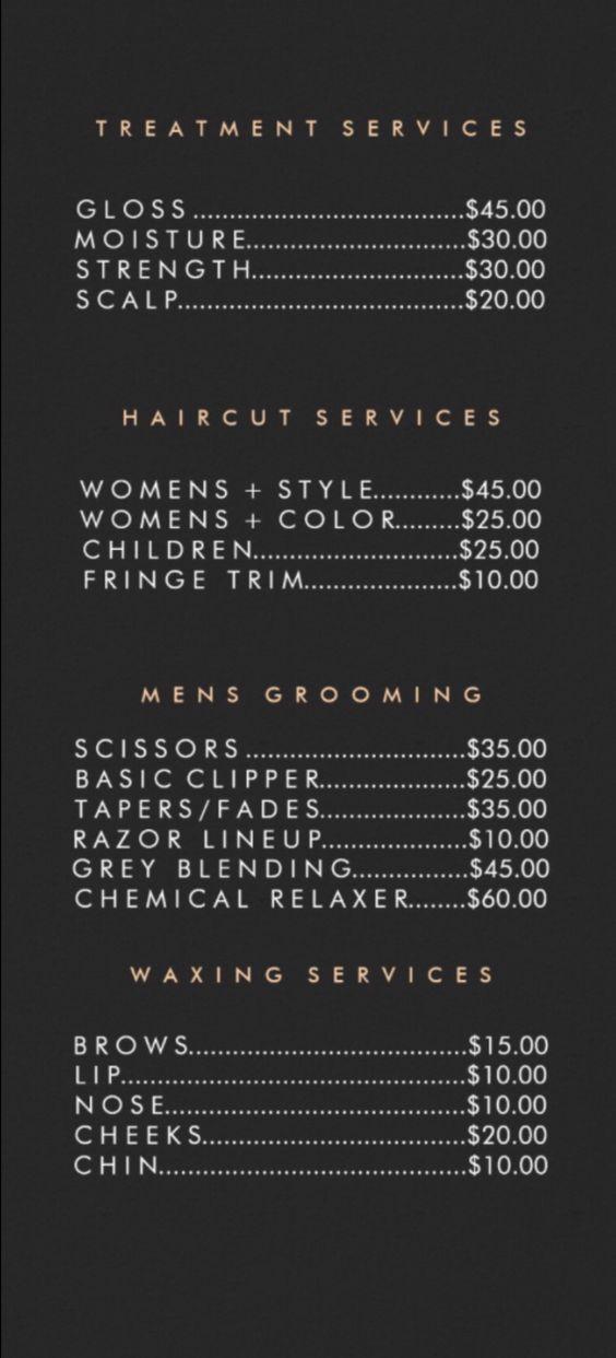 Listino Prezzi Elite Parrucchieri
