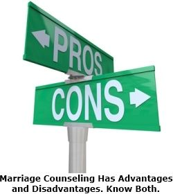 """Does marriage counseling work? Well, it has both advantages and disadvantages. Know both. (This article discusses the downside... 