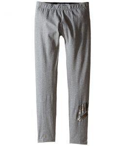 Nike Kids Sportswear Leg-A-See Legging (Littke Kids/Big Kids) (Carbon Heather) Girl's Casual Pants