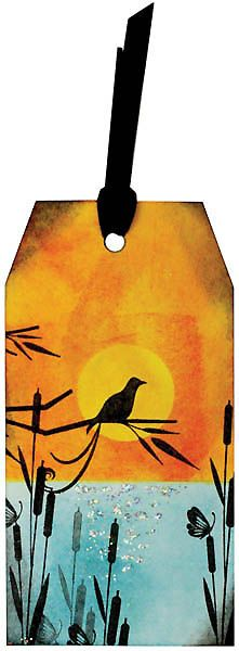 MT417d Blended Sunset Gift Tag