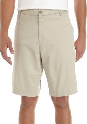 Saddlebred Men's Big & Tall Stretch Shorts - Khaki - 50