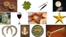Símbolos Ciganos - Ancora, chave, estrela de 5 pontas, estrela de 6 pontas…