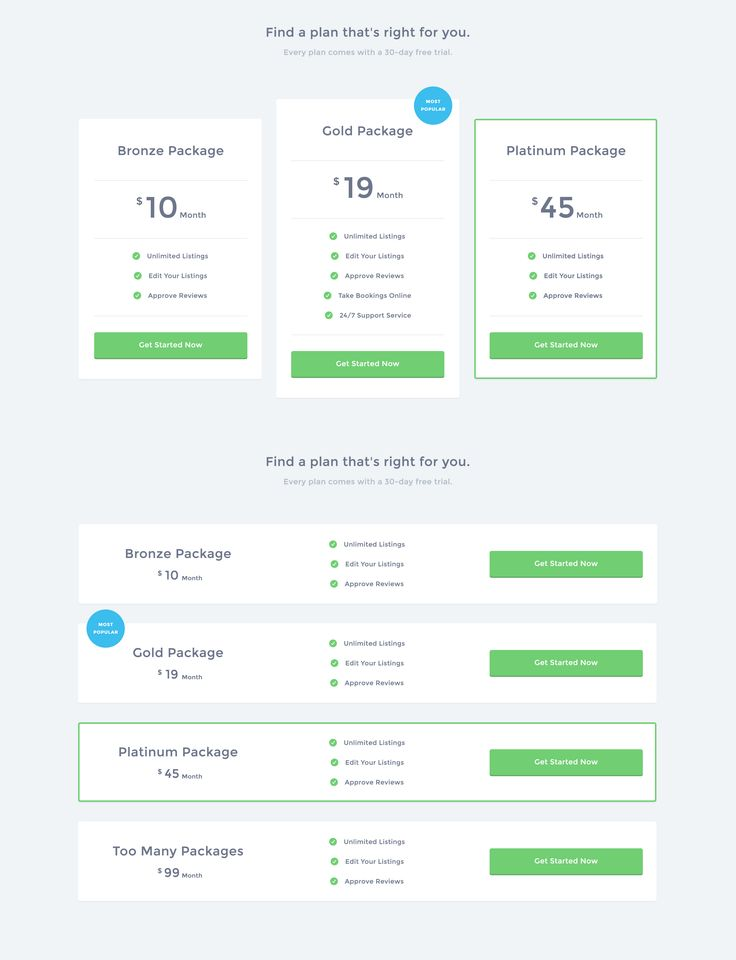 21 best ui pricing tables images on pinterest pricing for Table design ui