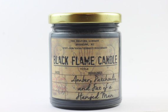 Black Flame Candle Hocus Pocus Candle by TheMeltingLibrary