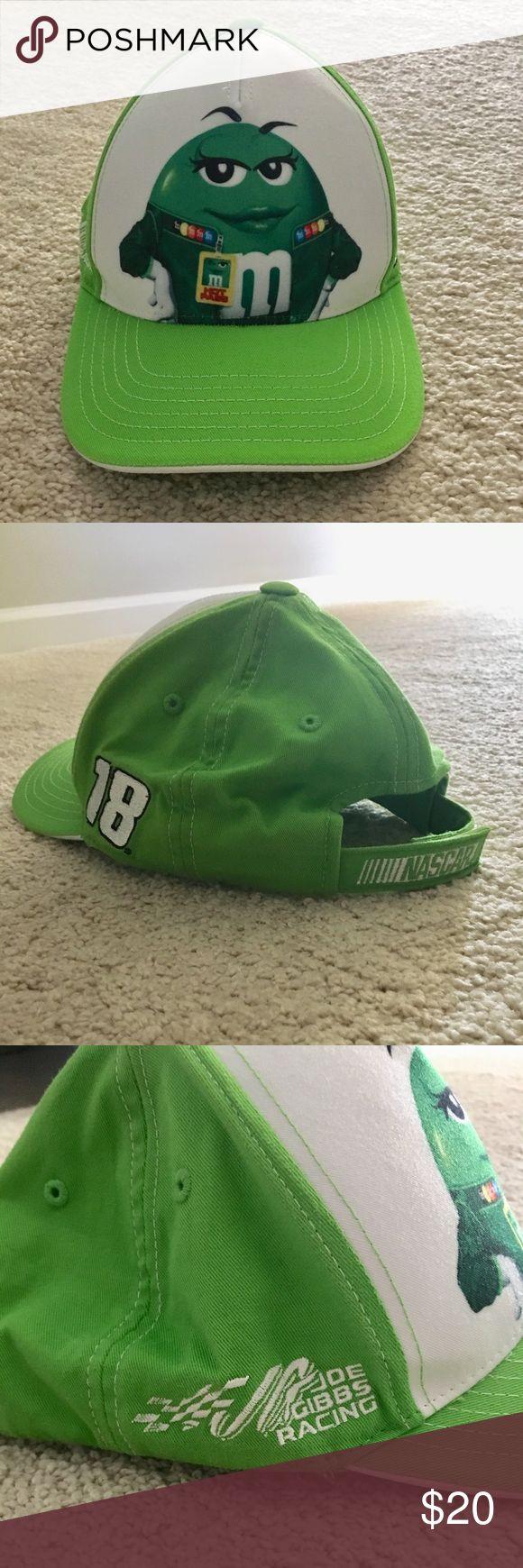 M&Ms Nascar Hat Green M&M's Nascar Hat Kyle Busch #18 Accessories Hats