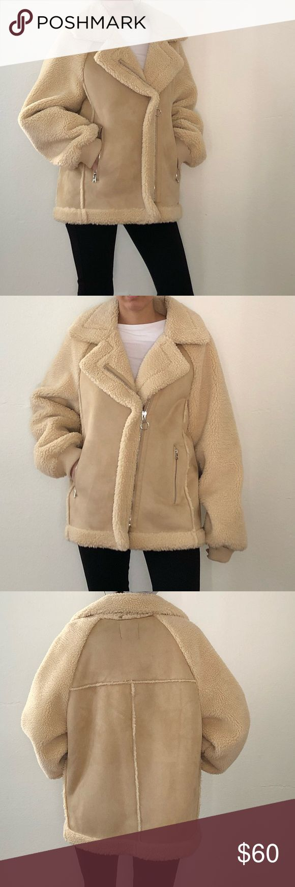 NWT Faux Shearling Jacket Brand is Bershka carried by ASOS