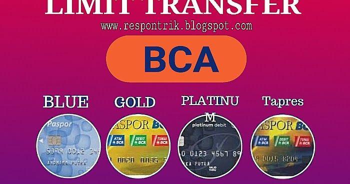 Pin Di Https Respontrik Blogspot Com 2018 11 Limit Transfer Bca Html