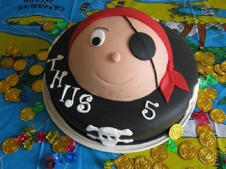 Piratentaart voor Thijs