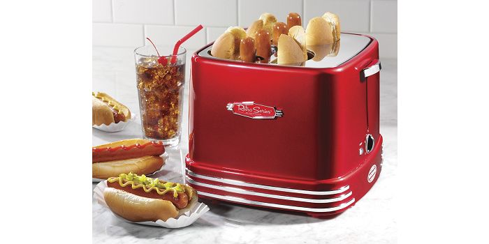 Nostalgia RHDT800RETRORED - #1 Top Rated Hot Dog Cooker