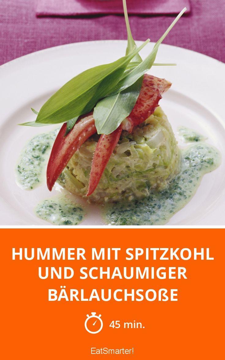 Hummer mit Spitzkohl und schaumiger Bärlauchsoße - smarter - Zeit: 45 Min. | eatsmarter.de