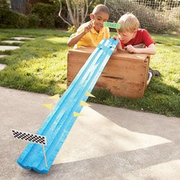 so cool!Backyards Games, Ideas, Pool Noodles, Pools Noodles, For Kids, Summer Activities, Fun, Racing Track, Kids Toys
